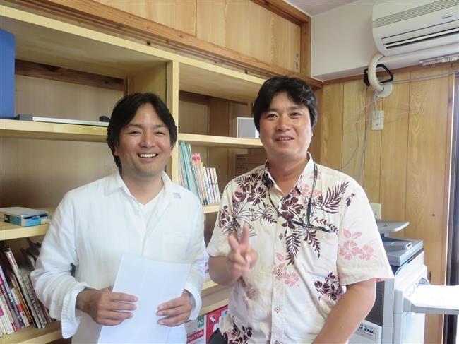沖縄・那覇のリフォーム 実際のお客様の写真:事務所デスクを作りました。
