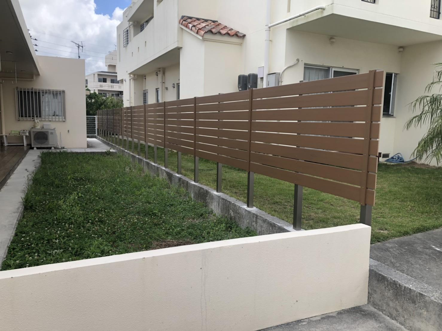 目隠しフェンス設置工事(リフォーム施工事例)を公開しました。 | 沖縄や那覇でリフォームするなら【株式会社 あうん工房】