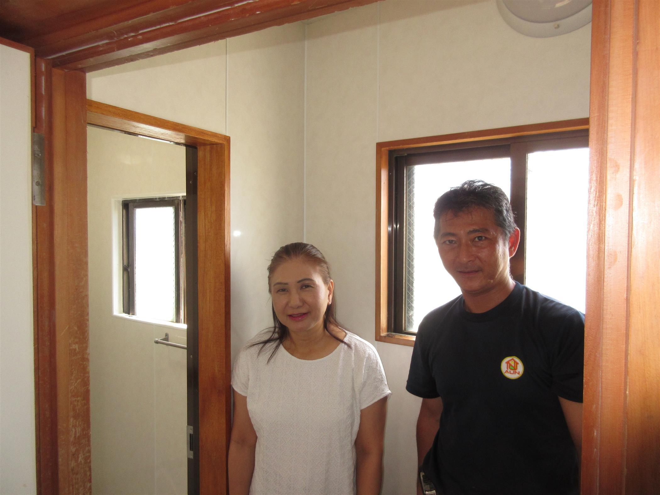 沖縄・那覇のリフォーム 実際のお客様の写真:シャワールームへのリフォーム