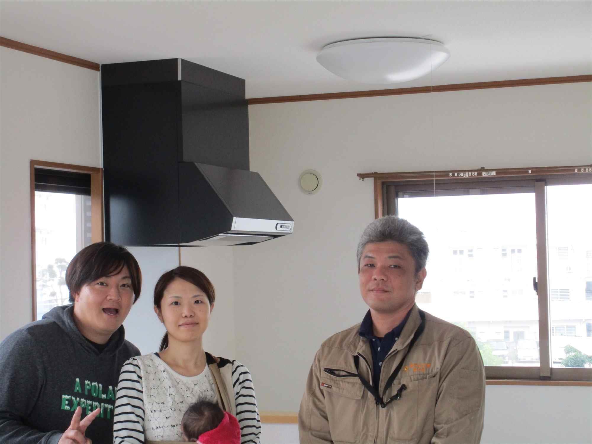 沖縄・那覇のリフォーム 実際のお客様の写真:思っていた以上にキレイで又、予算も前後に安くなっていたので満足です。