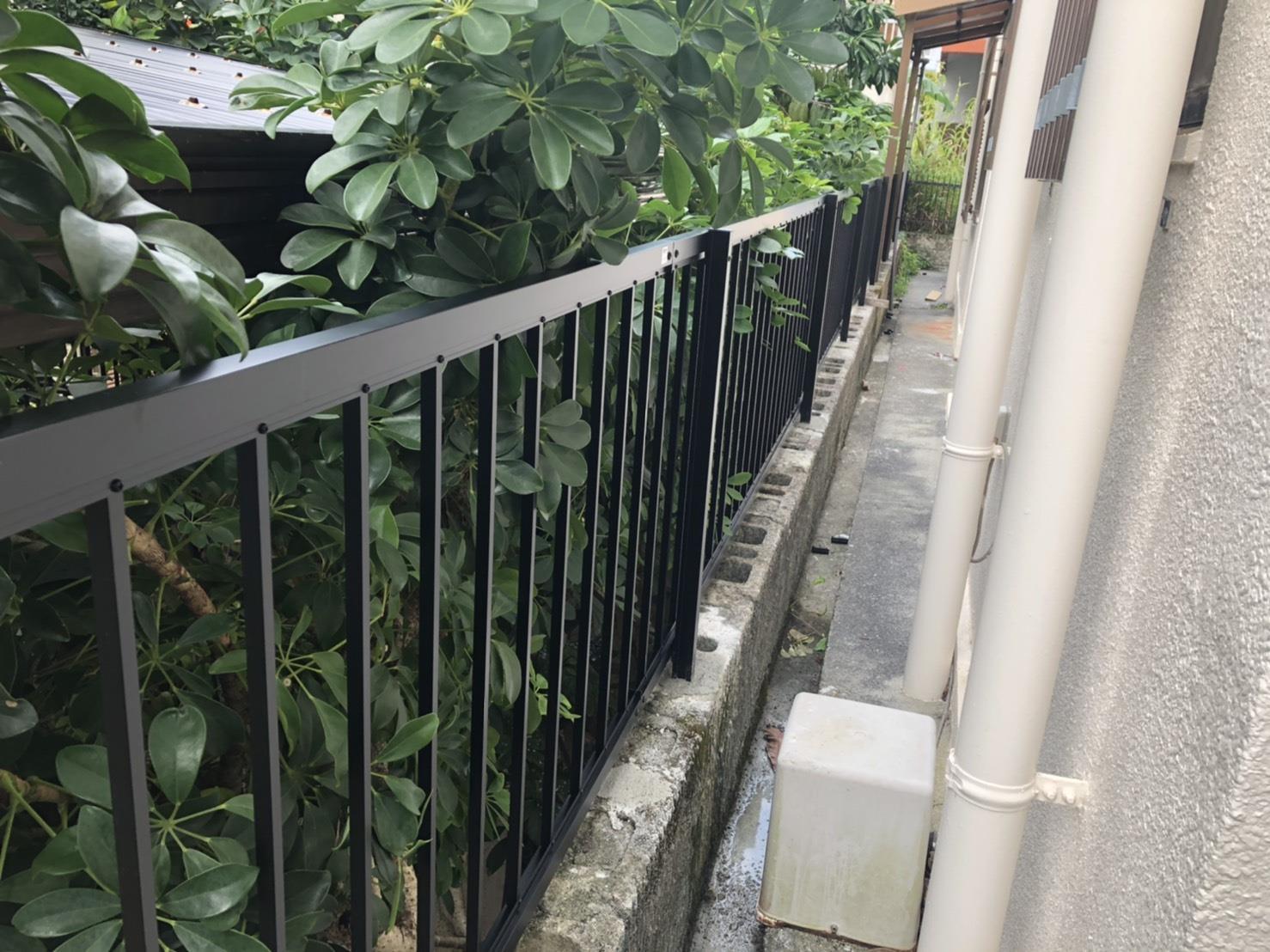 フェンス設置工事(リフォーム施工事例)を公開しました。 | 沖縄や那覇でリフォームするなら【株式会社 あうん工房】