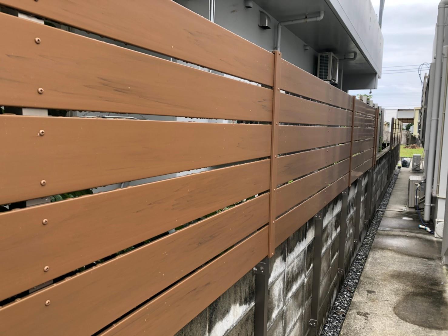 目隠しフェンス、雨よけ設置工事(リフォーム施工事例)を公開しました。   沖縄や那覇でリフォームするなら【株式会社 あうん工房】