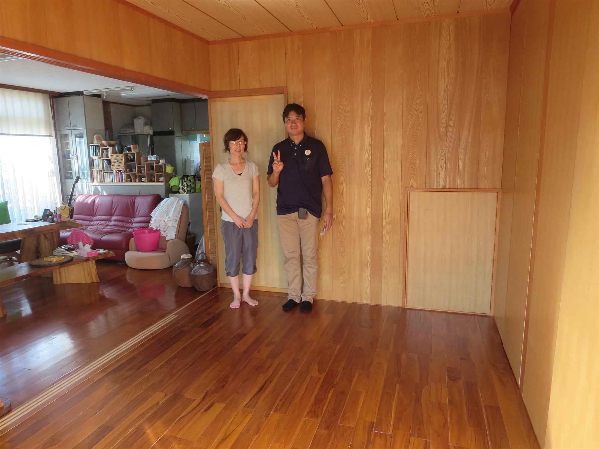 沖縄・那覇のリフォーム 実際のお客様の写真:床の張替工事