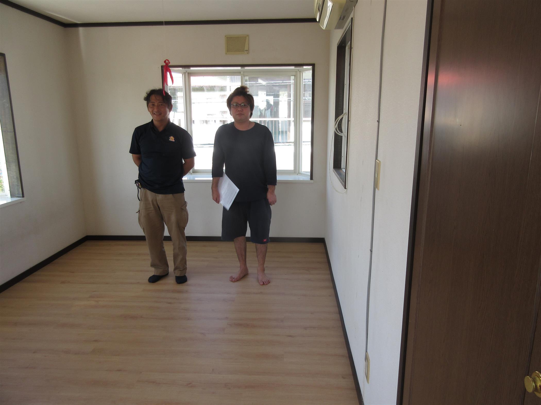 沖縄・那覇のリフォーム 実際のお客様の写真:床の張り替え工事