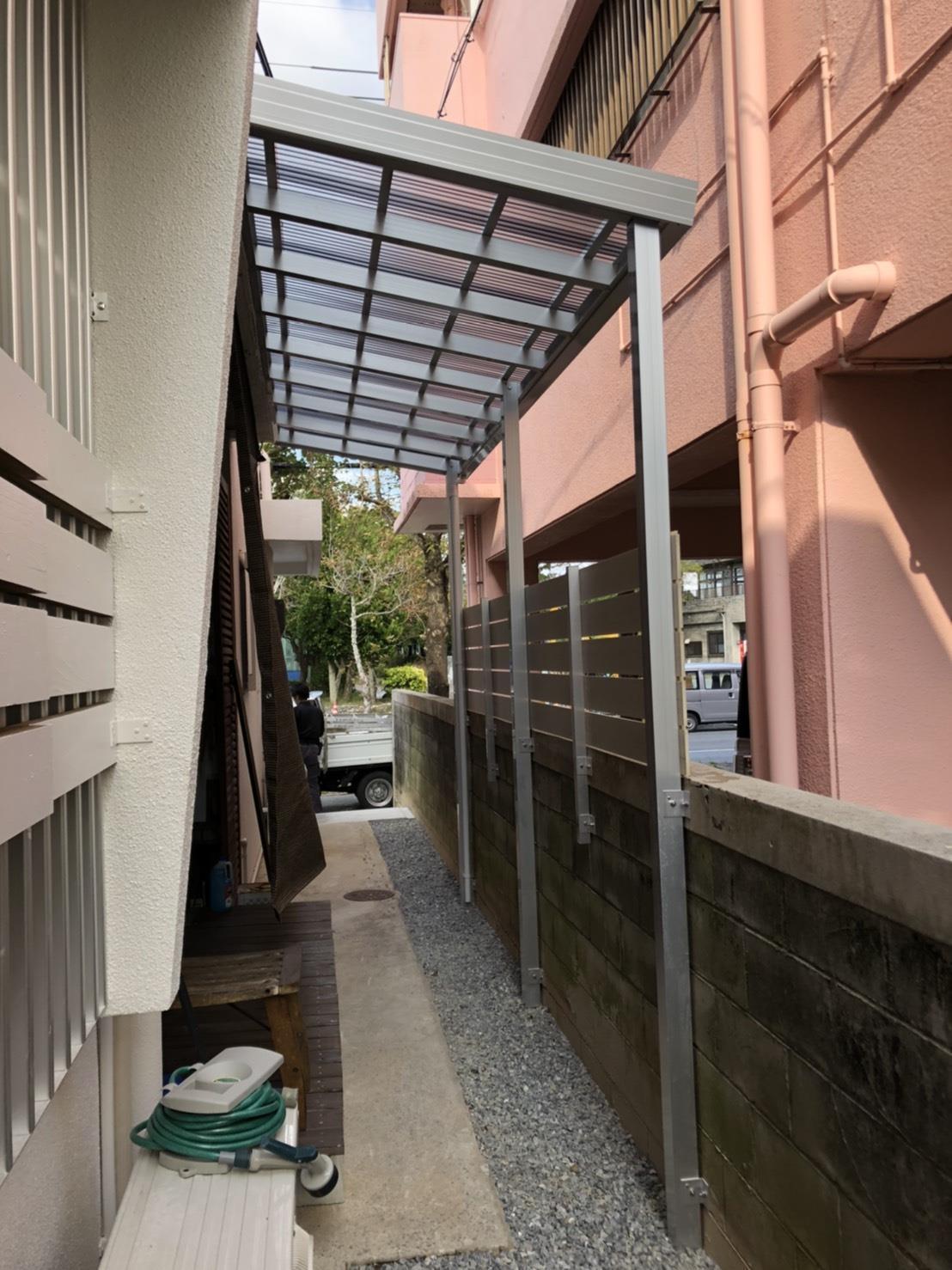 テラス・目隠しフェンス工事(リフォーム施工事例)を公開しました。 | 沖縄や那覇でリフォームするなら【株式会社 あうん工房】