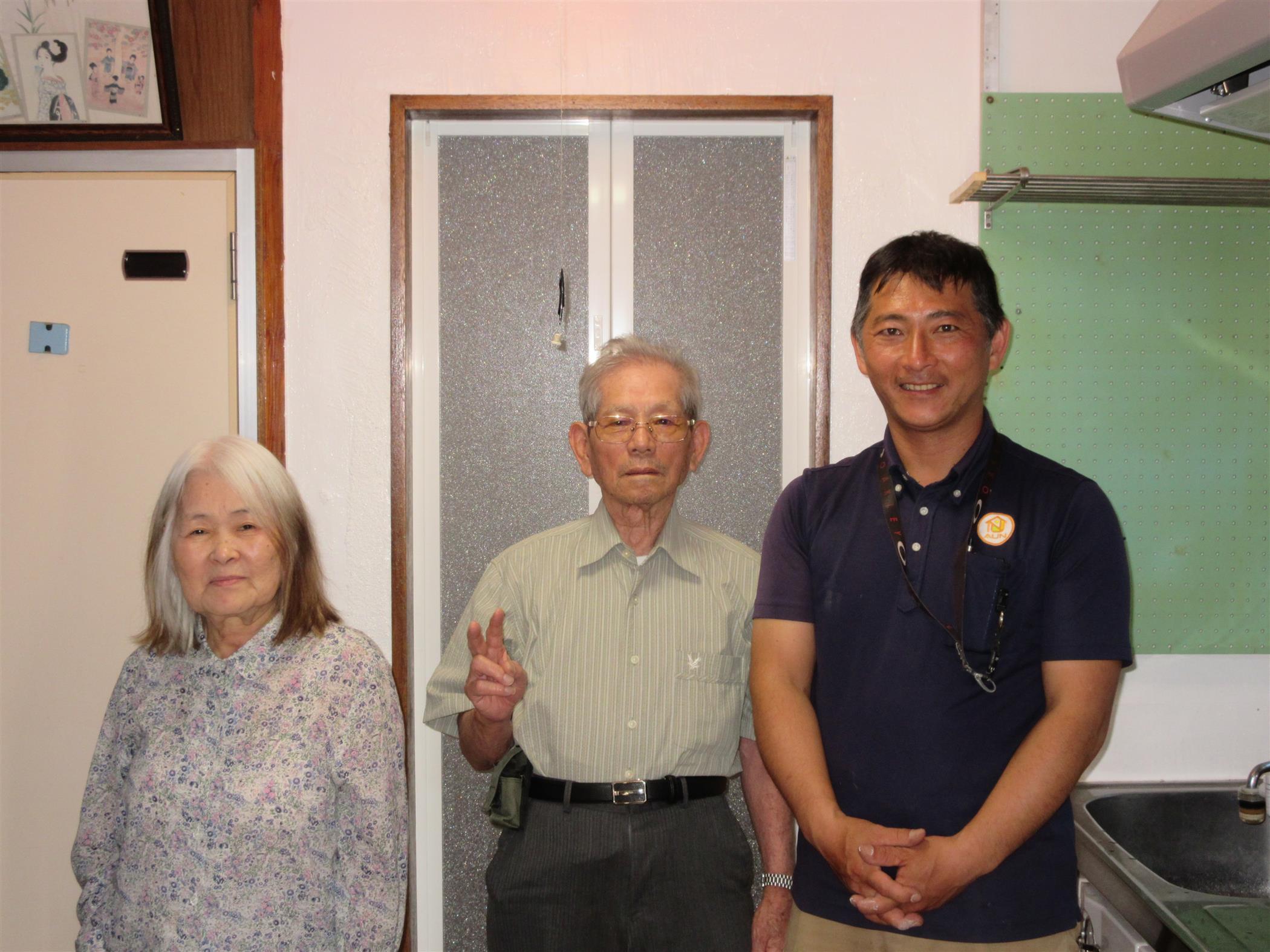 沖縄・那覇のリフォーム 実際のお客様の写真:問合せの対応がよくて、ネットでも評判よく信頼出来そうなので