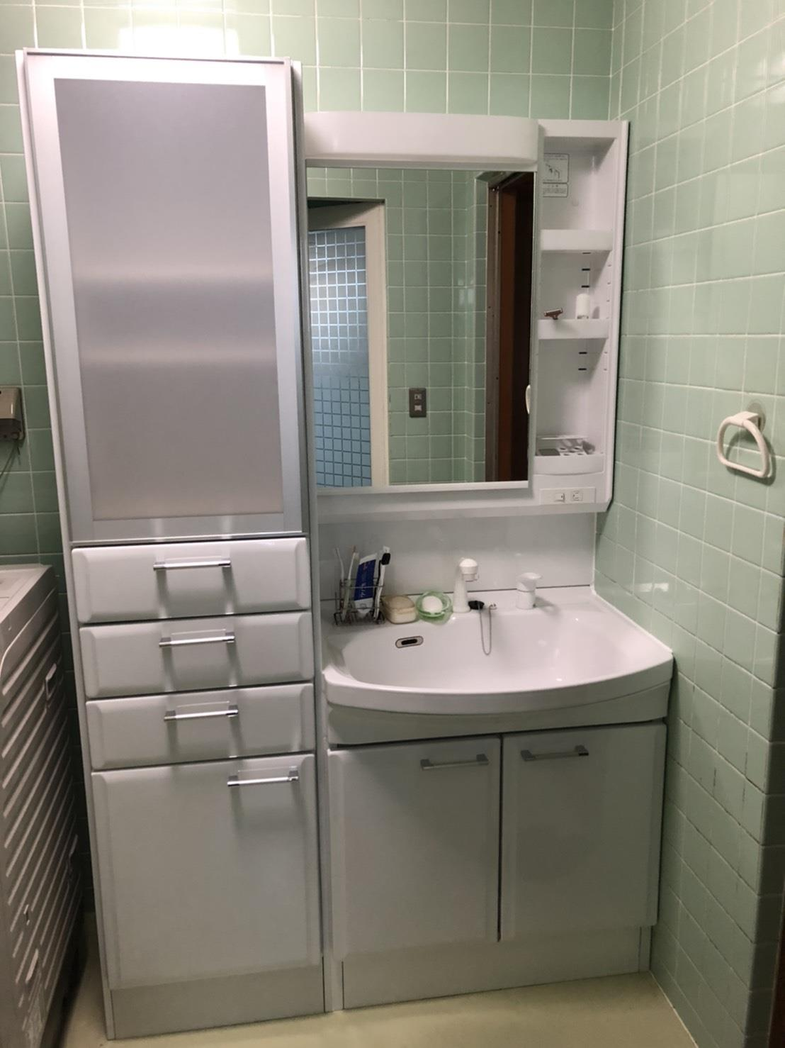 洗面化粧台取替え(リフォーム施工事例)を公開しました。 | 沖縄や那覇でリフォームするなら【株式会社 あうん工房】