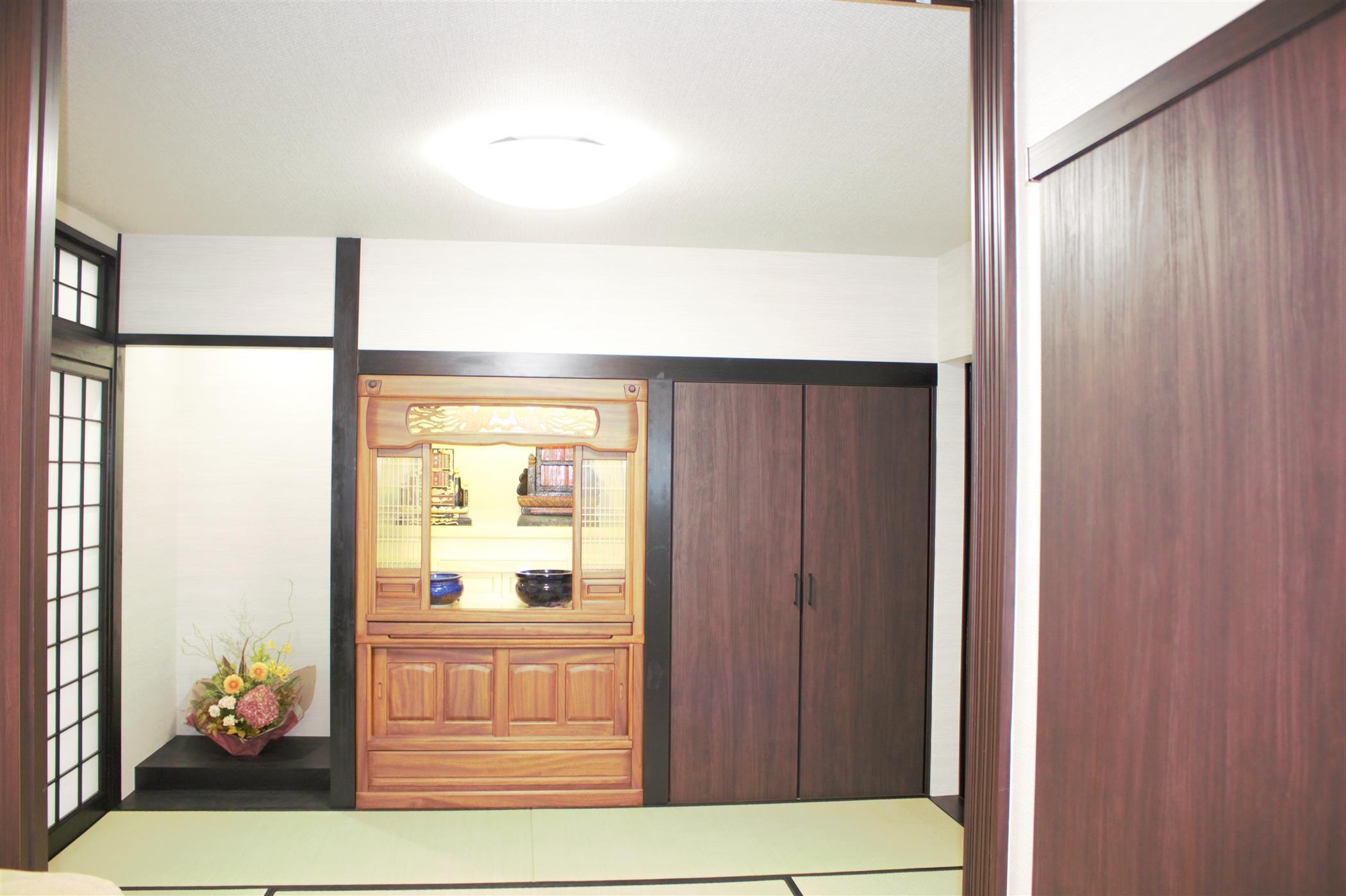 仏壇設置(リフォーム施工事例)を公開しました。 | 沖縄や那覇でリフォームするなら【株式会社 あうん工房】
